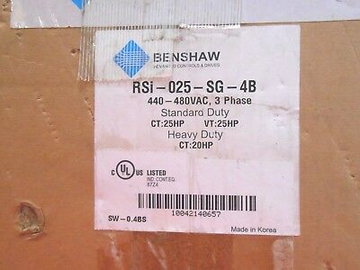 Benshaw Rsi-020-Sg-4B Series Variable Frequency Drive - Nib!
