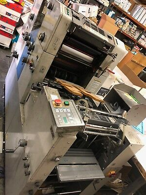 RYOBI 3302H Two Color Offset Printing Press, Crestline Dampening Watering System
