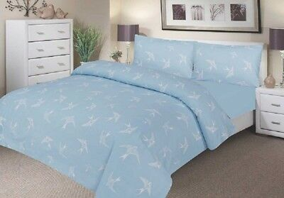 Comfortnights Waterproof Printed Duvet Cover Set - Blue Swallow