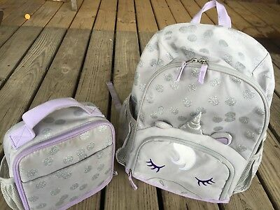 bc8cf285921c Pottery Barn Kids Mackenzie critter Collection Large Backpack Lunch Box  Unicorn