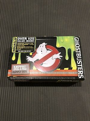 New GHOSTBUSTERS Metal School Supply Box Pens & Pencils - 2016 Bonus Collectible