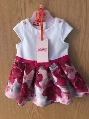 Baby Girls Porcelain Rose Ted Baker Party Dress Age 3-6 Months (Wedding Summer)