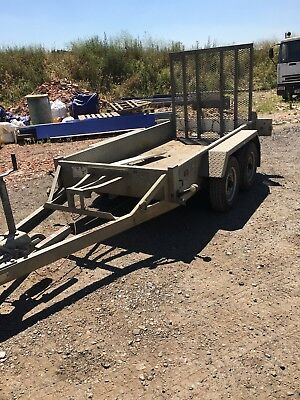 Indespension minidigger twin axle plant trailer, mini micro digger or dumper 8x4