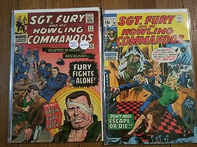 Sgt. Fury #28 Silver Age and Sgt. Fury #78 Early Bronze Age
