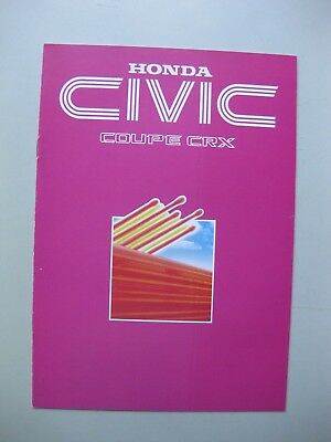 Honda Civic CRX Coupe brochure Prospekt Dutch/Flemish text 1984