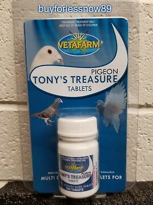 Pigeons Products 5 IN 1 TONYS TREASURE TABLETS (Vetafarm) Pigeons Medications