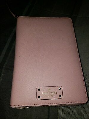 KATE SPADE Wellesley Blush Pink Leather Personal Day Organizer Planner