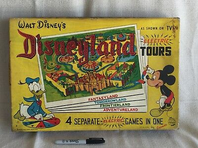 Vintage Disneyland Board Game Disneyana Art