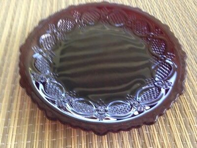 "Avon Cape Cod Ruby Red Bread and Butter Plates 5 1/2"" US Seller Free Shipping"