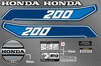 1982 82' Honda ATC 200 ATV Gas Tank 11pc Graphics decals stickers