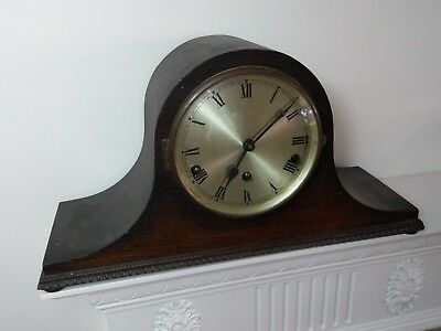 Large Antique Wind Up Mantle Clock with Westminister Chime