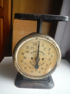 Vintage Columbia Family Scale 24 Pounds by Ounces Still Works