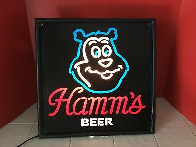 Vintage Hamms Beer Light Up Sign Works Great !