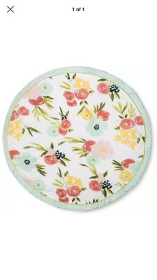 Round Activity Playmat Floral - Cloud Island and #153; - Pink/Light Green