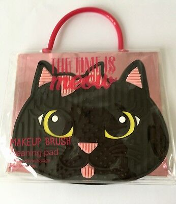 The Time is Meow Black Cat Make Up Brush Silicone Cleaning Pad Mat Bella Beauty