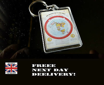 Flat Earth KEYRING KEYCHAIN ****FREE Next Day Delivery