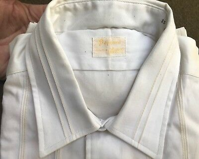 Deadstock NOS Vintage 50s 60s Popcorn By Enro Cotton Dress Shirt Union Tag M