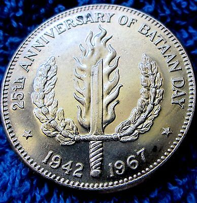 Rare(Only 10000 Minted) Philippines 1967 Peso Silver 1967 Bataan Day A14-151
