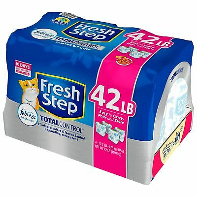 Fresh Step Total Control with Febreze Clumping Cat Litter 42 lbs