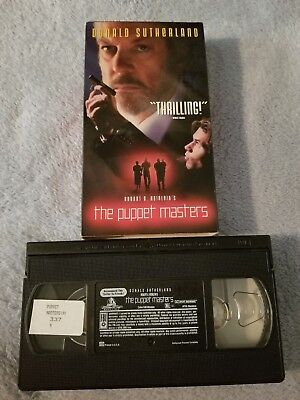 The Puppet Masters 1994 Vhs Tape Horror Sci Fi Donald