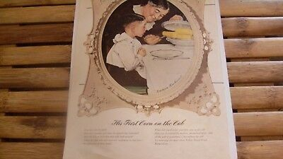Replica - The First Corn on the Cob by Norman Rockwell