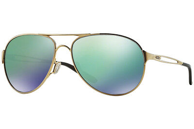 New Oakley OO4054-15 Caveat Polished Gold w/ Jade Iridium Sunglasses Fast Ship