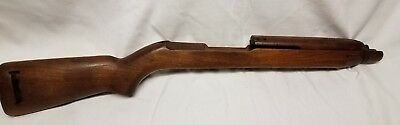 "M1 Carbine Stock ..HIGH WOOD...""I"" cut...with handguard...missing metal"