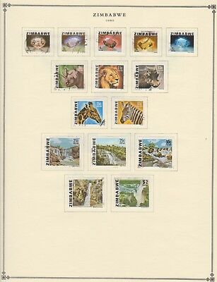 Zimbabwe 1980's Mostly Used Collection on Scott International Pages