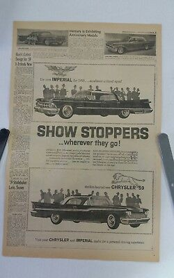 1959 Chrysler and Imperial  newspaper ad