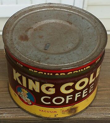 Vintage King Cole coffee can