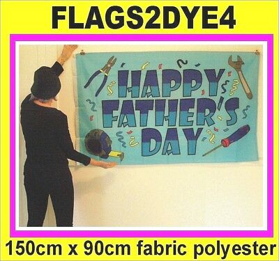 Happy Fathers day flag father dad flag dads flag for party or parties