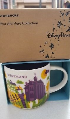 Disneyland Exclusive Starbucks You Are Here 4th Edition Mug 2018 Haunted Mansion