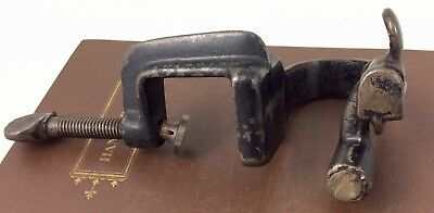 Antique Iron Swing Clamp WHITMAN Sewing Leather Cloth Stretcher Braiding Fabric