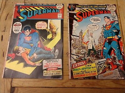 *****(2)-Vintage Superman Comic Books-(2)*****