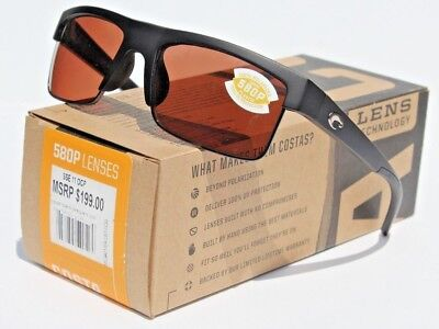 7ec63ee147c1 COSTA DEL MAR South Sea POLARIZED Sunglasses Matte Black Gunmetal Copper  580P