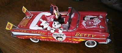 Betty Boop 57 Chevrolet Bel Air Hot Rod Red Danbury Mint Diecast Great Detail