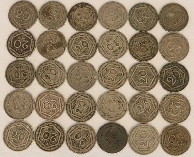 20 Centesimi Italy 1918-1919 Coin Lot Of 30 World Foreign Combined Shipping D9