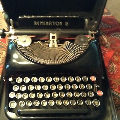 Working 1930's Antique Remington 5 Typewriter With Case