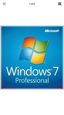 Windows 7 Pro Key| 64/32 Bit|  Professional Lifetime Genuine Key.