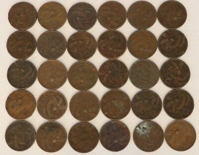 10 Centesimi Italy 1920-1937 Coin Lot Of 30 World Foreign Combined Shipping D5