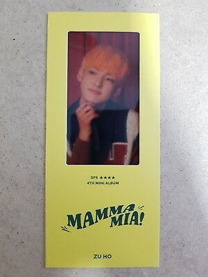 SF9 ZUHO Authentic Official FILM BOOKMARK MAMMA MIA! 4th Album SP. Photocard