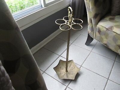 Vintage Solid Brass Detailed Umbrella/cane Stand