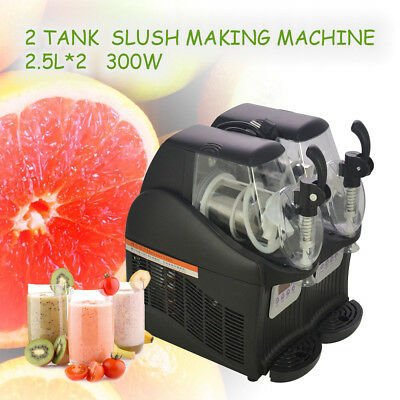 2.5L*2 300W Mini Margarita Slush Frozen Drink Machine