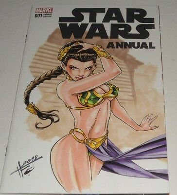 Star Wars Annual # 1 Nm (2016.marvel)  Sketch By Humberto Fuentes