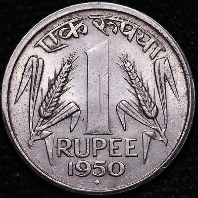 1950 India 1 Rupee     FREE S/H To USA