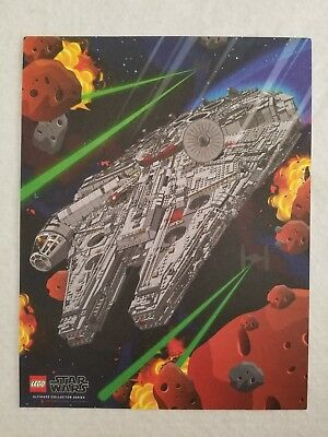 Lego 75912 Ultimate Collecters Series MILLENNIUM FALCON Promo Poster 2017 11x8.5