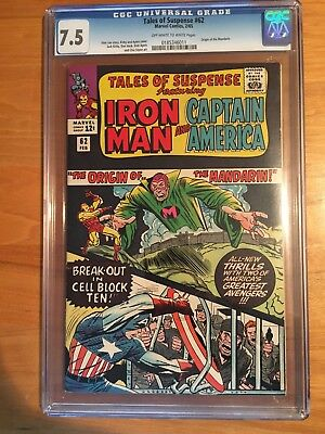 TALES of SUSPENSE #62 CGC 7.5 OW/W -- Origin of Mandarin