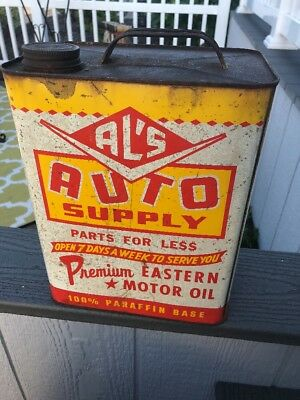 Al's Auto Supply Motor Oil Can