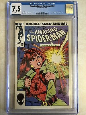 Marvel Comics AMAZING SPIDER-MAN ANNUAL 19 CGC Grade 7.5 (1985)