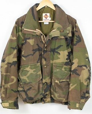 Vintage Columbia Gore-Tex Thinsulate Camo Hunting Jacket Coat L Made in USA Mens